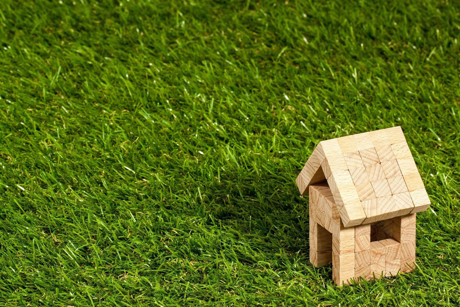 petite maison sur gazon vert